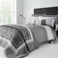 king size duvet cover luxury geo silver tap to expand