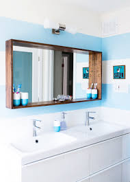 Bathroom Mirror Frame Before After A Big Sea Of Bright Designsponge Apartment
