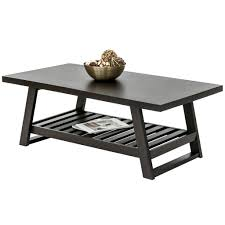 Coffee Table w/ Bottom Shelf - Dark Brown
