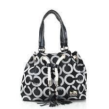 Coach Julia Logo Medium Grey Totes FEP