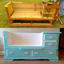 Diy Bench Diy Dresser To Bench For Your Home By Vicki Payne