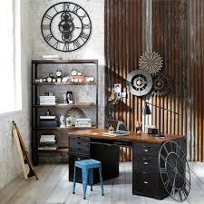 home office wall decor ideas. Home Office : Designing Wall Decor Rustic Industrial Design Mechanice Modern Looking Desk Style Furniture Ideas Desks Space Chic Look Interior A