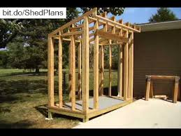 Small Picture How To Build a Lean To Style Storage Shed YouTube