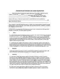 Sublease Form Long Term Agreement Template