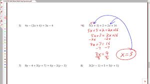3 6c solving multi step equations