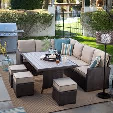 Amazon Com Dark Brown Modern All Weather Wicker Aluminum Sofa