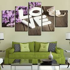 purple canvas wall art for kitchen