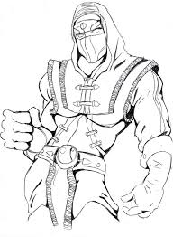 Small Picture Printable Mortal Kombat Coloring Pages Coloring Me