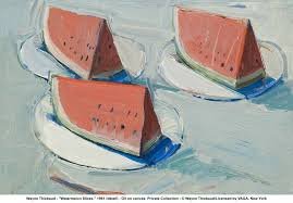 wayne thiebaud watermelon slices 1961 detail oil on canvas