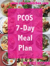 Pcos Diet Chart For Weight Loss Pcos 7 Day Meal Plan My Pcos Kitchen