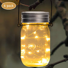 Gigalumi Hanging Solar Lights Gigalumi Mason Jar Lights Jacksshop