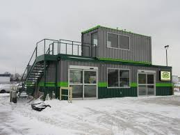 container office building. Modular Store Exterior As Built Container Office Building T