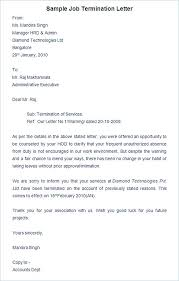 Employment Termination Letters Best 48 Termination Letter Sample How It Should Be Written And Edited