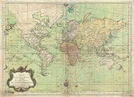 1778 Bellin Nautical Chart Or Map Of The World 4000 X 2902