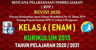 H beranggapan bahwa pendidikan bagi perempuan tidak penting, karena anak. Rpp 1 Lembar Kelas 6 Sd Mi Kurikulum 2013 Tahun Pelajaran 2020 2021 Datadikdasmen