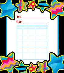 Star Student Chart Poppin Patterns Star Student Incentive Chart Star
