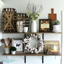 farmhouse kitchen wall decor love these tips for styling shelves these shelves were transformed with some old farmhouse kitchen wall decor ideas