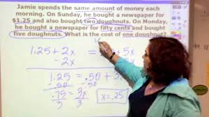 solving word problem equations with variables on both sides