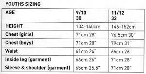 Winter Jacket Size Chart Trespass Prescilla Waterproof Winter Jacket For Girls