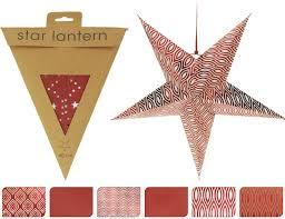 Papierstern Stern Rot Weiß ø 40 Cm Weihnachtsstern Faltstern Weihnachtsdeko