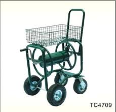garden hose roller water hose reel cart garden water hose reel cart with basket water