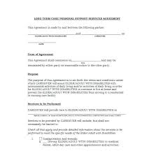 Customer Service Agreement Template Private Child Support It