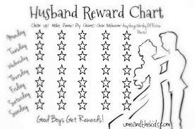 weekly reward chart printable lazy husband partner reward chart u me and the kids