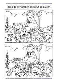 Zoek De Verschillen Sinterklaas Op Paard Amerigo Sint Werkboek