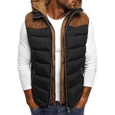 MIUCAT   <b>Men's</b> Thick Warm <b>Down Cotton Vest</b> Coat Autumn Winter ...