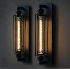 edison bulb lighting fixtures. Image Is Loading Retro-Corridor-Wall-Light-Edison-Bulb-Wall-Lamp- Edison Bulb Lighting Fixtures