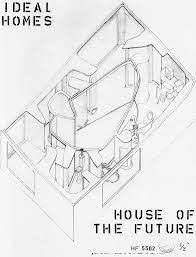 the house of the future alison & peter smithson drawings Eames House Plan Section Elevation image result for alison and peter smithson house of the future Eames House Interior