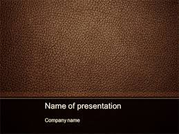 Leather Templates Embossed Leather Cover Powerpoint Template Backgrounds 10086