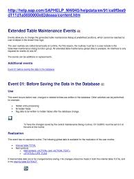 Sm30 Events Parameter Computer Programming Subroutine