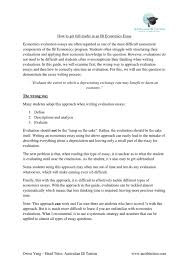 How To Get Full Marks In An Ib Economics Essay By David Gai