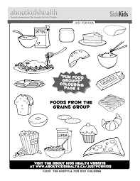 Colouring Page For Your Kids Foods
