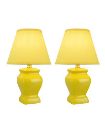 40074 1 Two Pack 14 12 High Traditional Ceramic Table Lamp Yello