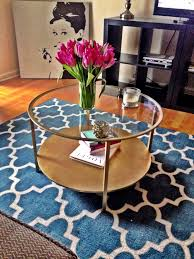furniture brown mid century style metal ikea round coffee table with glass top designs ideas