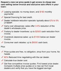 Car Price Quotes Extraordinary Finding RockBottom New Car Prices By Making Dealers Compete