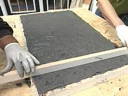 prepare and pour concrete mix