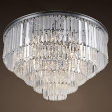 vintage chandeliers led lighting modern crystal prism flush mount ceiling