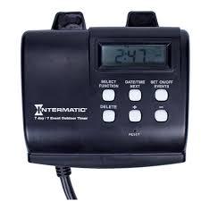 Intermatic 15 Amp 7 Day Outdoor Digital Plug In Timer Black