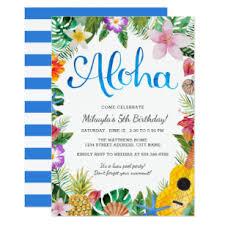 Hawaiian Pool Party Invitations Luau Birthday Invitations Zazzle
