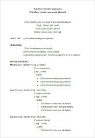College Resume Template Microsoft Word