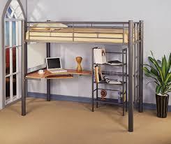 twin metal full size loft bed