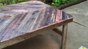 rustic wooden outdoor furniture. Incredible Diy Project Build A Patio Table From Reclaimed Wood Picture For Outdoor Wooden Trends And Rustic Furniture