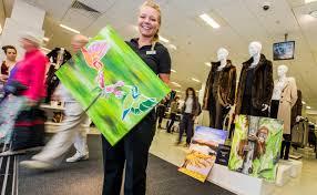 Shrewsbury M&S artist raises over £1000 for Macmillan