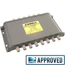 directv swm 8 channel single wire multiswitch swm 8 nopower from zinwell directv approved wide band ku ka 6x8 multiswitch wb68