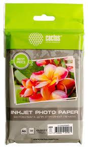 Купить <b>Фотобумага</b> Cactus CS-GA620050ED <b>A6</b>/<b>200г</b>/<b>м2</b>/50л ...