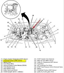 2000 chevy tracker camshaft position sensor is bad 2 0 engine graphic