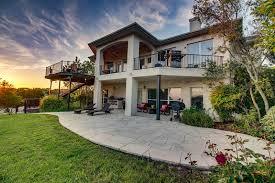 an enclosed backyard plenty of patio